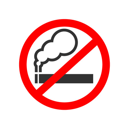 pernicious habit: No smoking sign