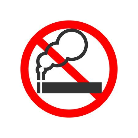 abstain: No smoking sign