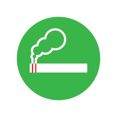 smoldering: smoking sign Illustration