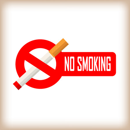 smokers: No smoking area sign