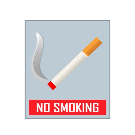 smoldering: No smoking area sign