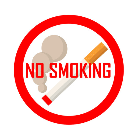 abstain: No smoking area sign