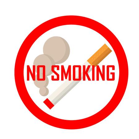 interdiction: No smoking area sign