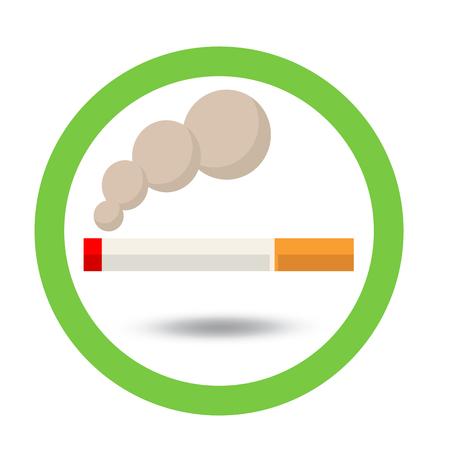 smoldering: vector smoking area sign Illustration