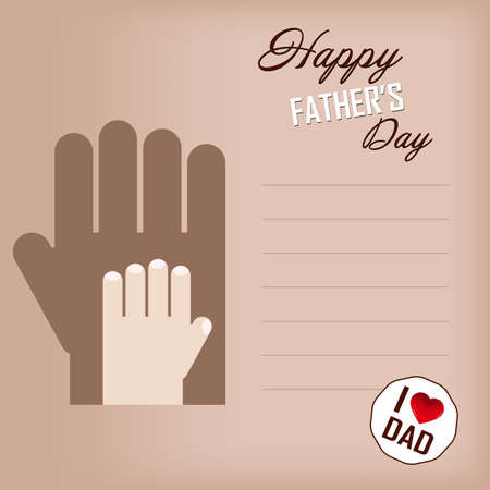 you figure: Happy fathers day card and sign vintage retro