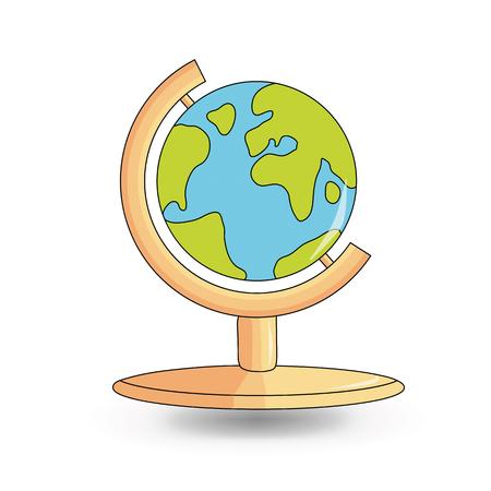 world class: School globe. cartoon  style design - vector