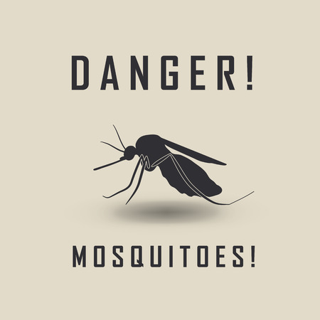 itch: the mosquitoes stop sign - vector image of a mosquito and the risk of malaria