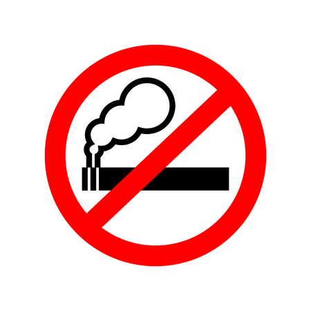 abstain: No smoking sign