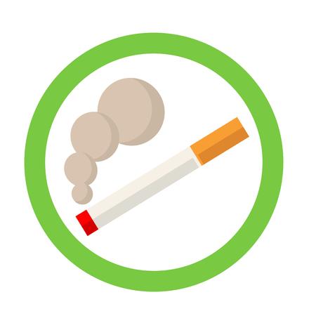 pernicious habit: smoking area sign
