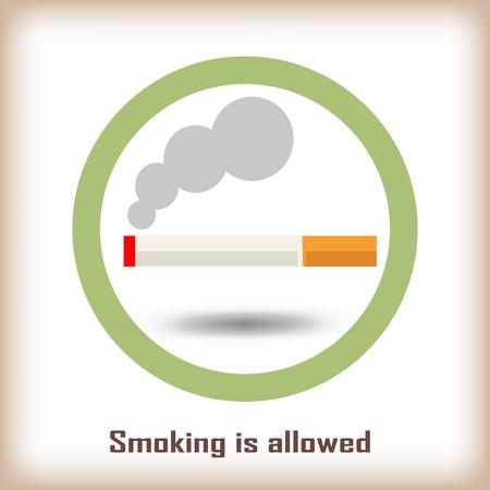 pernicious habit: Smoking area signs