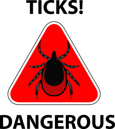 borreliosis: vector image of a tick stop sign