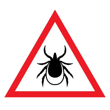 garrapata: vector de imagen de una marca en un triángulo rojo - Muestra de la señal de parada