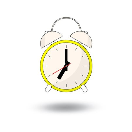alarm clock - vector illustration. cartoon  style design