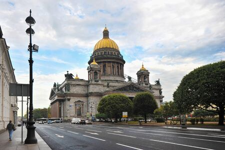 isaac s: Saint-Petersburg, Russia - September 09, 2015: Saint Isaacs Cathedral in St.Petersburg. The largest Russian Orthodox cathedral in the city, took 40 years to construct, from 1818 to 1858.