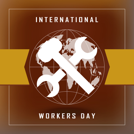 Industrial workers: 1st May - Labor Day Illustration