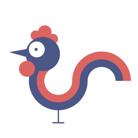 according: Rooster - a symbol of the new 2017 according to the Chinese calendar. Vector illustration of cute rooster. cartoon vector illustration of cock