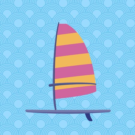 sailboard: Windsurf board -  ideal for digital and print design Illustration