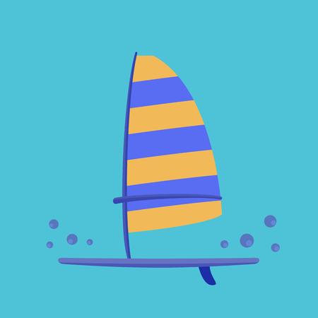 windsurf: Windsurf board -  ideal for digital and print design Illustration