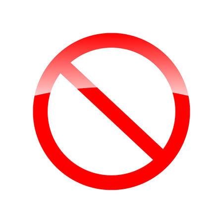 forbidding: Red forbidding symbol for something. Not Allowed Sign.  Empty No sign. Vector illustration