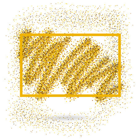 s tie: Holiday greeting card template. Vector illustration. Gold glitter background.