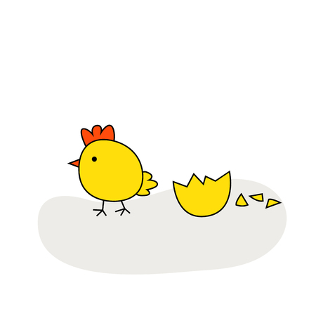 Cute cartoon chicken vector illustration. Cartoon chicken bird isolated on background. Chicken, bird, farm bird. Vector chicken farm animal. Cute chicken vector illustration. Chicken farm animal