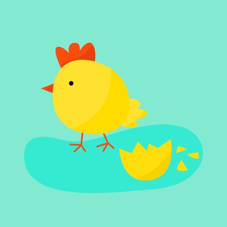 animal cock: Simpatico cartone animato illustrazione di pollo vettoriale. uccello pollo del fumetto isolato su sfondo. Pollo, uccello, uccello fattoria. Vector pollo fattoria degli animali. Illustrazione sveglia di pollo vettoriale. Pollo fattoria degli animali Vettoriali