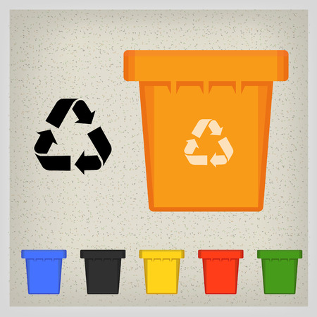 to refuse: Waste bin set vector illustration. Vector Recycle Bin Trash and Garbage icon set