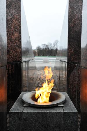 eternal: flame eternal flame in the marble obelisk