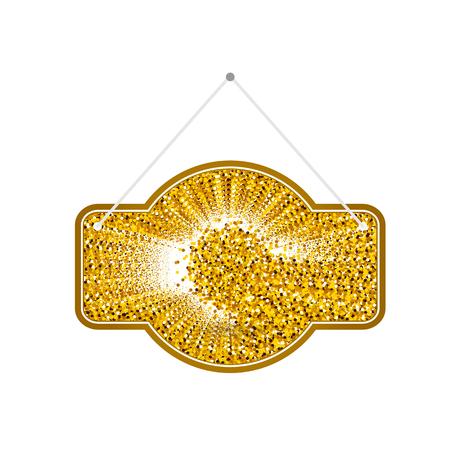 doorhandle: Gold sparkling ribbon. Gold vector illustration