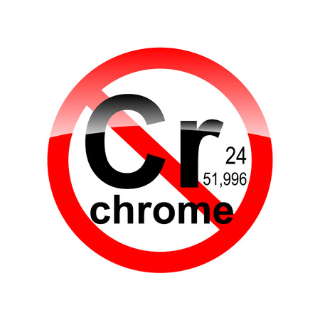Dign absence of harmful substances - chrome in the red circle Ilustração