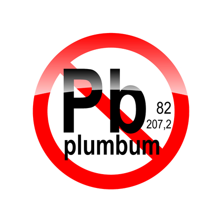 plumbum: Sign absence of harmful substances - plumbum in the red circle