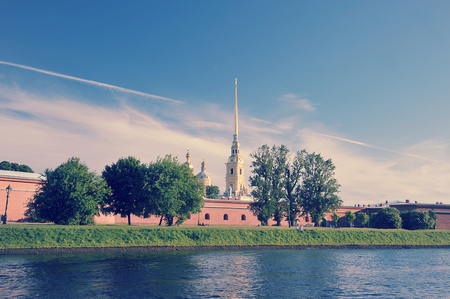 Saint Petersburg, Russia - June 29, 2017: View of the Peter and Paul fortress - the burial place of Russian Emperor Nicholas ii