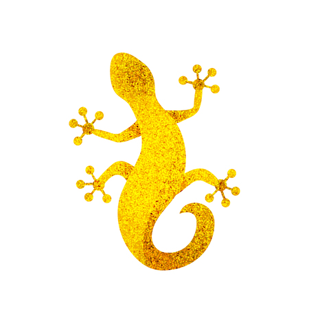 Golden lizard sparkling Salamander logo vector illustration