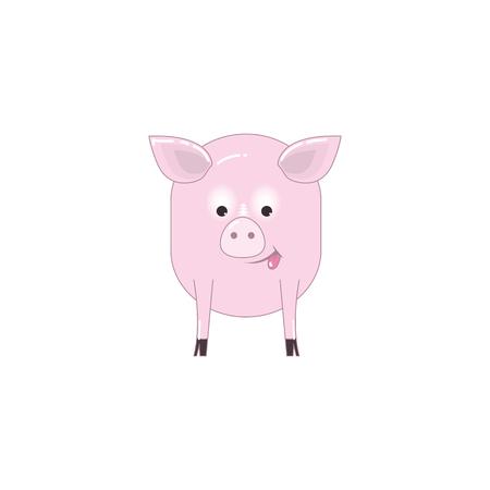 funny pig cartoon vector illustration of a character  Illustration