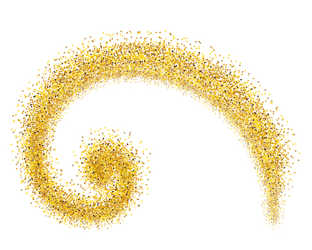 gold pinstripe is made according to the proportions of the Fibonacci - vector illustration