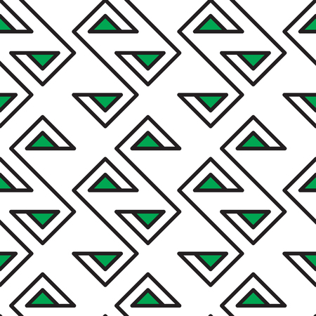 Abstract geometric seamless fashion design green print triangle pattern 向量圖像