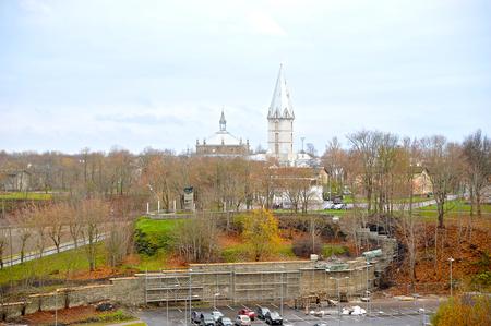 Narva, Estonia-November 3, 2018: Alexanders Lutheran cathedral in Narva city Editorial