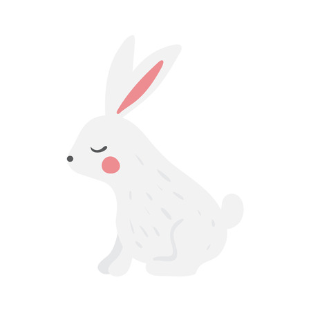 Happy Easter Bunny Vector illustration. Cute Rabbit cartoon character- lettle hare -bunny Zdjęcie Seryjne - 122848671