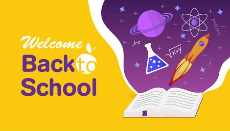 back to school concept book of knowledge and skills and the universe of knowledge