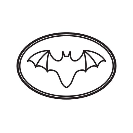 graphic logo of a bat in an oval