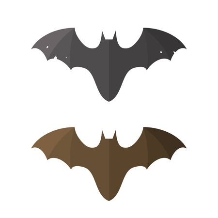 flat style logo of bat