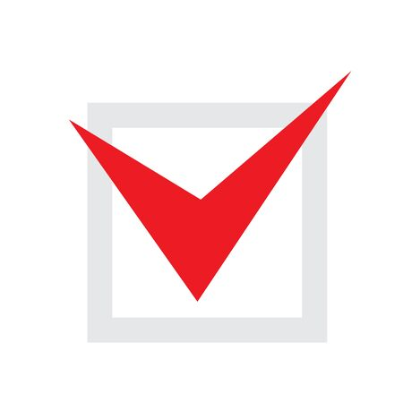 red tick for vote - voting in elections, choice