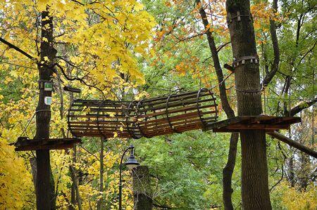 rope town in autumn Park-autumn amusement Park