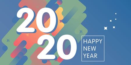 White text 2020 on abstract background for Happy New Year celebration greeting card design.