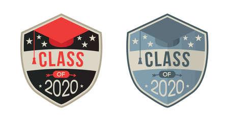 Emblem of Graduating class in 2020 with Graduation Cap
