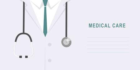 Doctor - nurse close up. Medical background - medical care consept Illustration