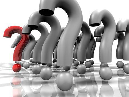 excelente: Un signo de interrogaci�n pendientes. Ej�rcito como marca 3D cuesti�n resoluci�n formation.High hacer.