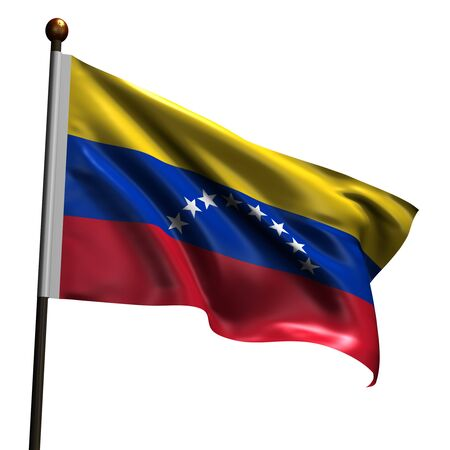 Venezualian flag. High resolution 3d render isolated on white. photo