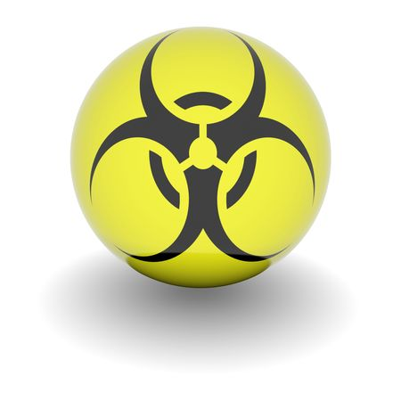 3D Biohazard symbol. High resolution 3d render isolated on white. Stock Photo - 5376618