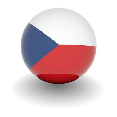 3D Ball with Flag of the Czech Republic. High resolution 3d render isolated on white. photo
